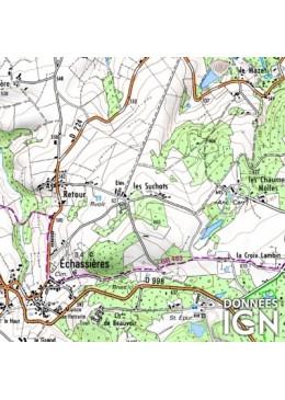 Carte topographique 1 département français au 1...